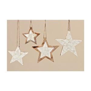 Sada 4 ks dekorativních hvězd Boltze Yvi