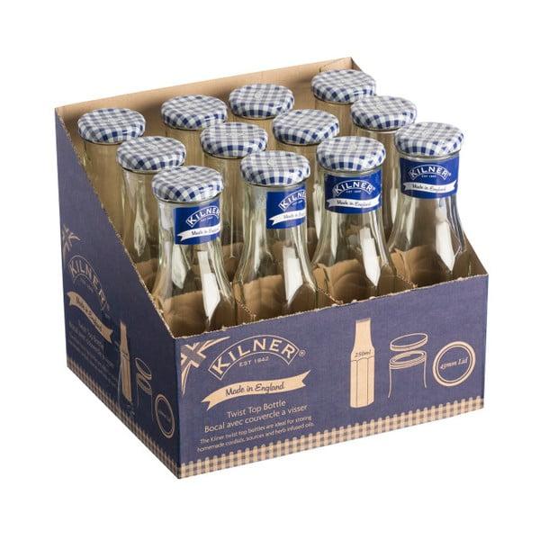 Skleněná lahev s víčkem Kilner Hexagonal, 250ml