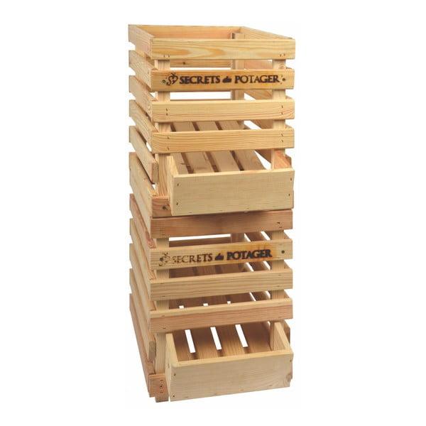 Dřevěná bedýnka na cibuli se šuplíkem Esschert Design