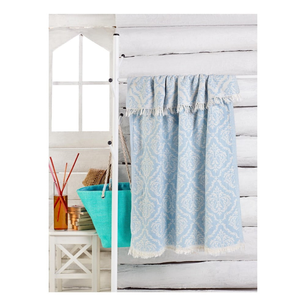 Světle modrý ručník Varak, 180 x 100 cm Bonami