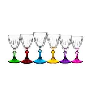 Sada 6 barevných sklenic na nožce Okyanus