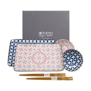 Růžovo-modrý set na sushi Tokyo Design Studio Geo Eclectic