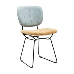 Modro-žlutá jídelní židle Kare Design Malmo