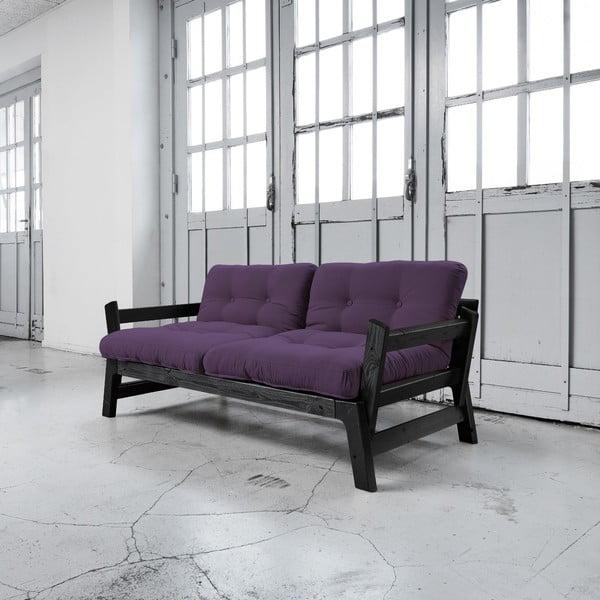 Rozkládací pohovka Karup Step Black/Purple