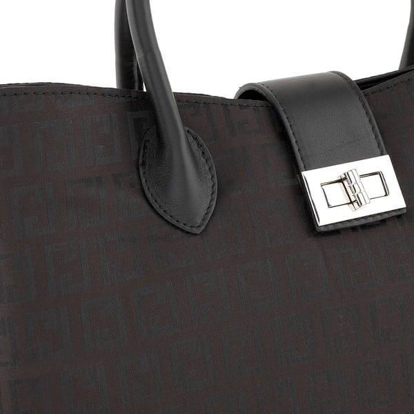 Kožená kabelka Tes Black