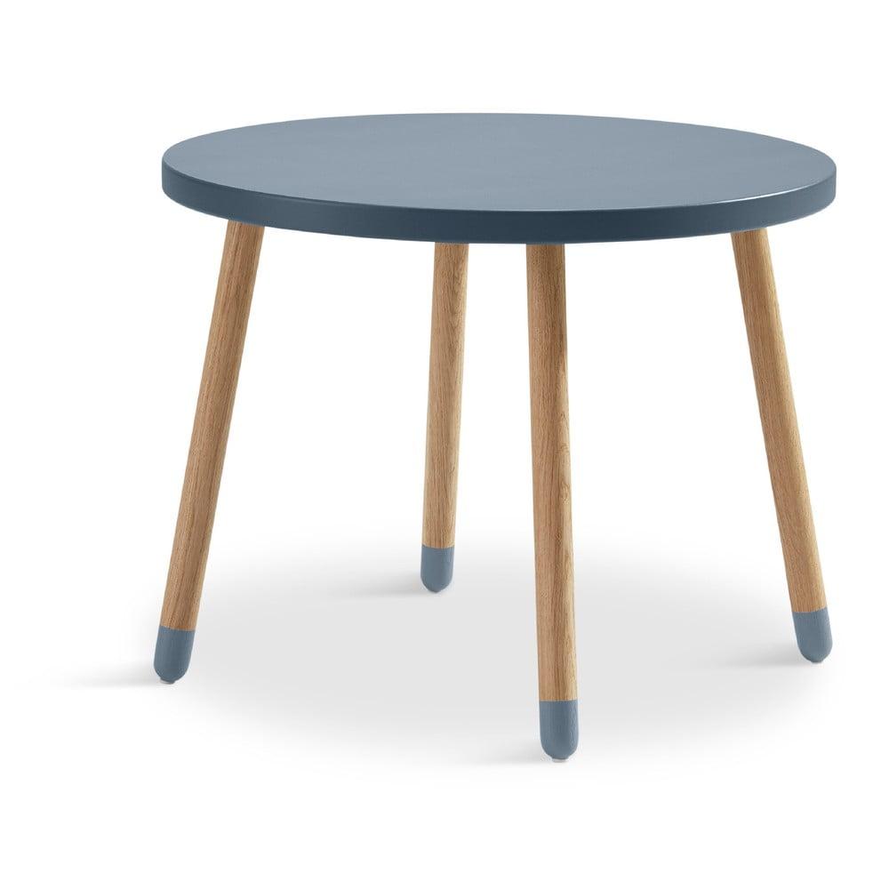 Modrý dětský stolek Flexa Dots, ø 60 cm