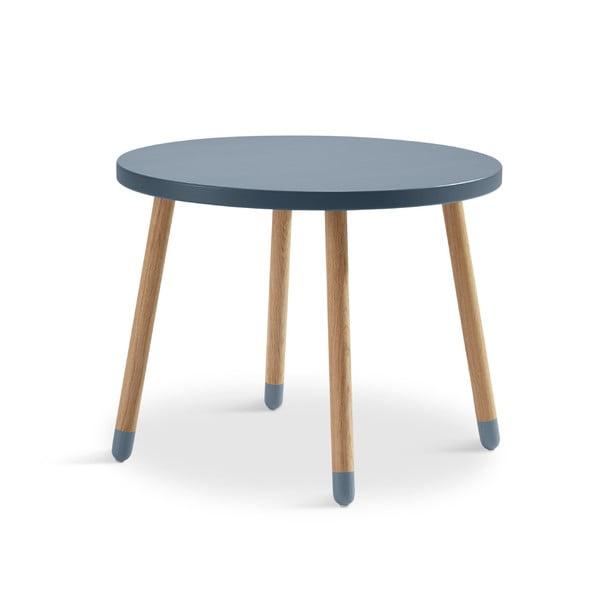 Modrý detský stolík Flexa Dots, ø 60 cm