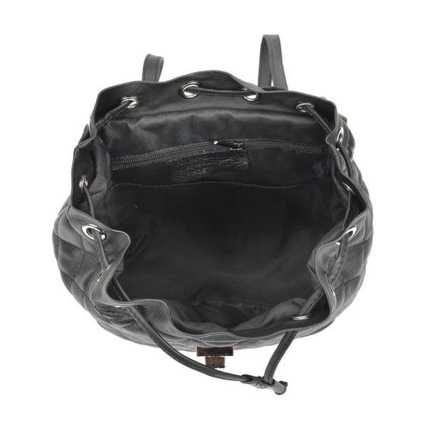 Černý kožený batoh Anna Luchini Lucy