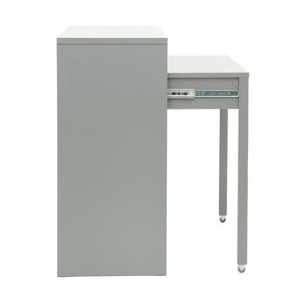 Psací/odkládací konzolový stolek Tordis Grey