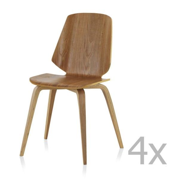 Set 4 scaune dining Geese Natural
