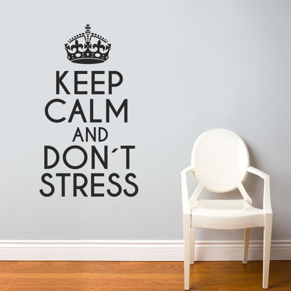 Samolepka Keep Calm, 90x60 cm