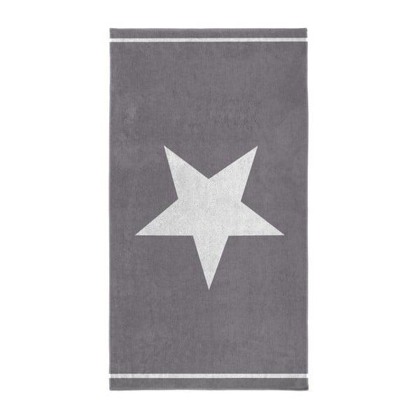 Šedá osuška Seahorse Star,100x180cm