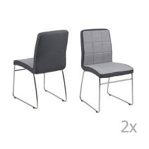 Set 4 scaune Actona Justin, gri închis