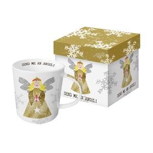 Hrnek z kostního porcelánu s vánočním motivem v dárkovém balení PPD Send Me An Angel, 350 ml