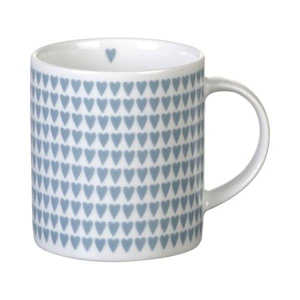 Modrý porcelánový hrnek Parlane Hearts, 8,5cm