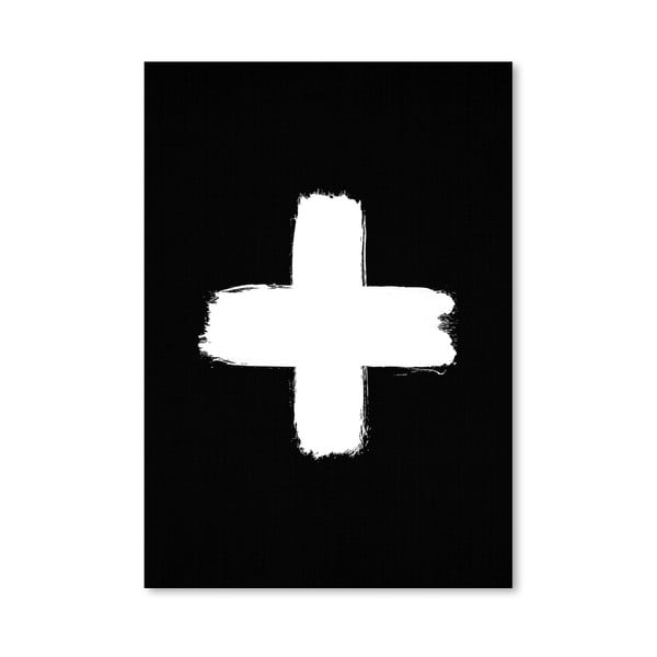 Plakát Cross Black
