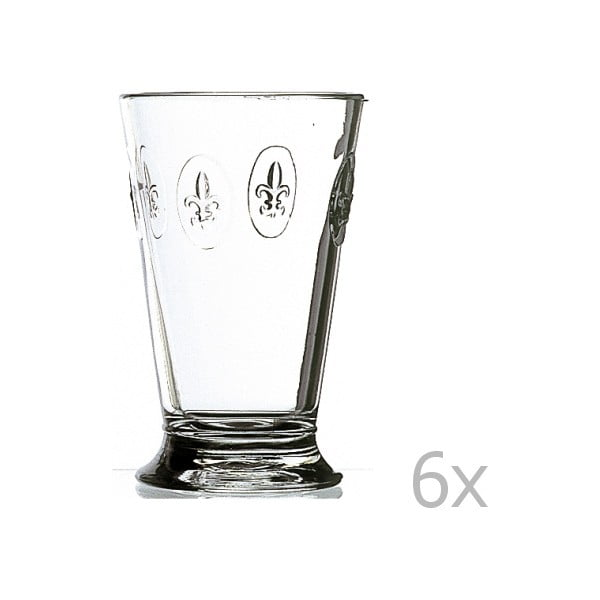 Sada 6 sklenic Fleur de Lys, 300 ml