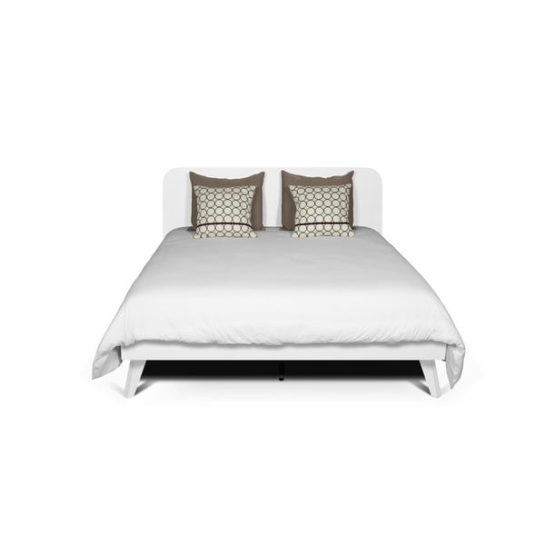 Bílá postel TemaHome Mara, 180 x 200 cm