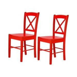 Set 2 scaune Støraa Trento Cross, roșu