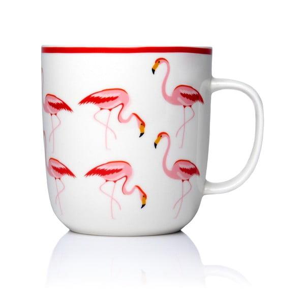 Hrnček z kostného porcelánu Sabichi Flamingo, 450 ml