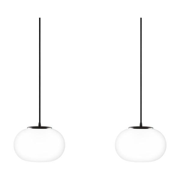 Černé dvojité stropní svítidlo s detaily ve stříbrné barvě Sotto Luce DOSEI