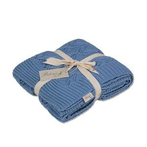 Modrá bavlněná deka Jennifer, 130 x 170 cm