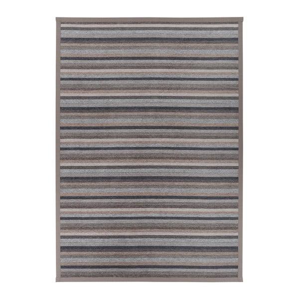 Šedobéžový vzorovaný oboustranný koberec Narma Liiva, 70 x 140cm