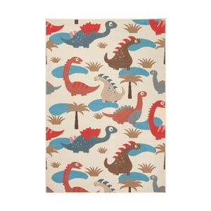 Dětský červenohnědý koberec Zala Living Dino, 140x200cm