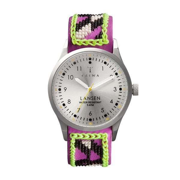 Unisex hodinky s fialovým koženým řemínkem Triwa Fiona Paxton Stirling Lansen