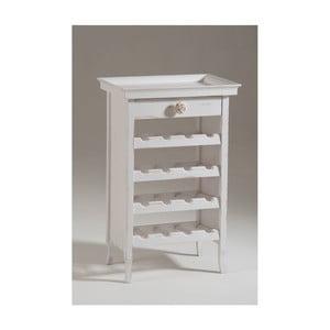 Bílá dřevěná vinotéka s odnímatelnou vrchní deskou Castagnetti Cellar