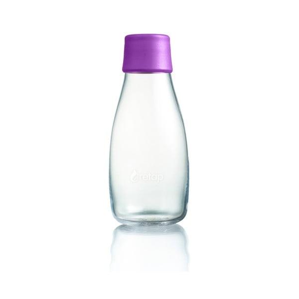 Fioletowa butelka ze szkła ReTap, 300 ml