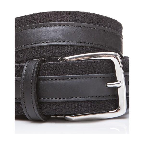 Kožený pásek Black Fabric, 115 cm