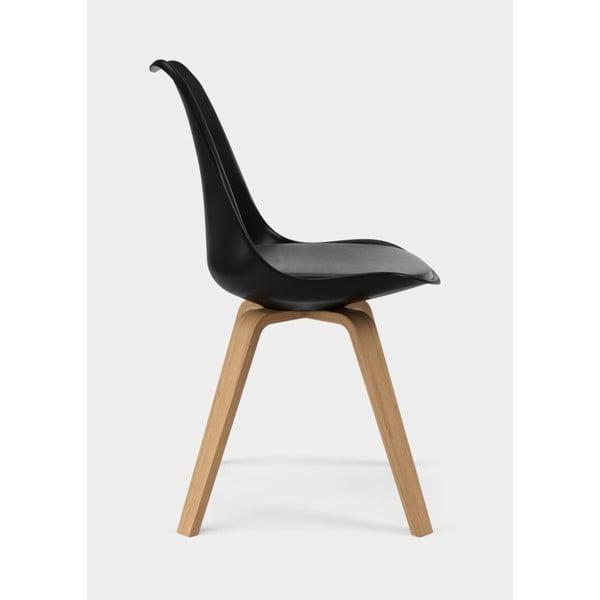 Sada 2 černých jídelních židlí Tenzo Gina