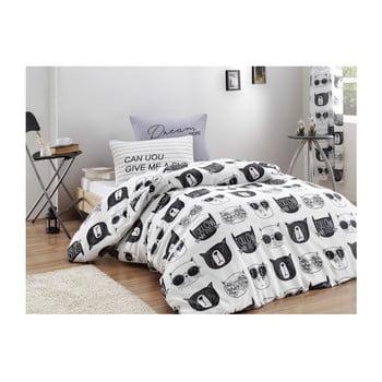 Lenjerie cu cearșaf pentru pat de o persoană Reterro Sylvana, 160 x 220 cm de la EnLora Home