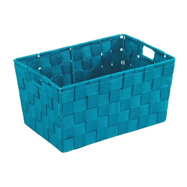 Petrolejově modrý košík Wenko Adria, 20x30cm
