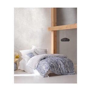Bavlněné povlečení s prostěradlem na jednolůžko Materro Gunna, 160 x 220 cm
