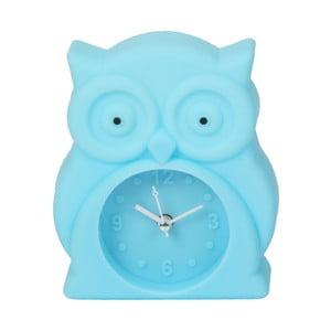 Světle modré hodiny s budíkem Just 4 Kids Blue Owl