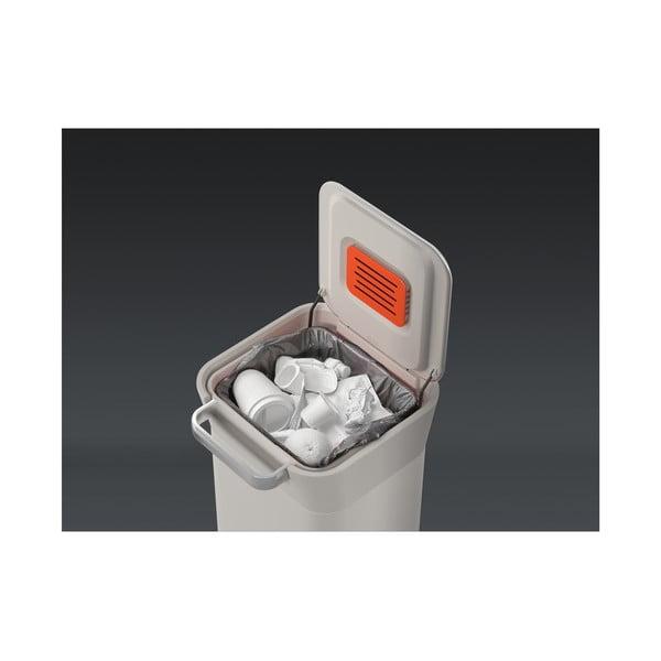 Bílý odpadkový koš s lakované nerezi Joseph Joseph Intelligent Waste, 20 l