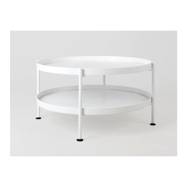 Hanna fehér dohányzóasztal, ⌀ 80 cm - Custom Form