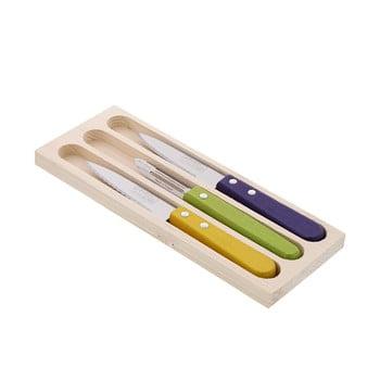 Set 2 cuțite și curățător din inox pentru legume, în cutie de cadou, Jean Dubost Vegetable de la Jean Dubost