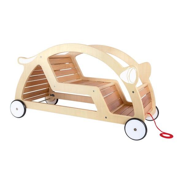 Dřevěné tahací a houpací auto Legler Seesaw