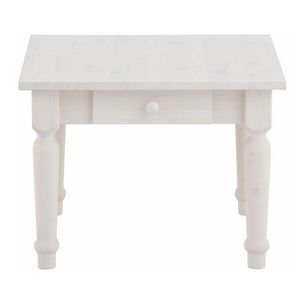 Bílý konferenční stůl se šuplíky z masivního borovicového dřeva Støraa Normann S