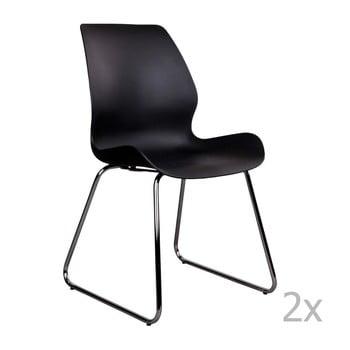 Set 2 scaune House Nordic Sola, negru de la House Nordic