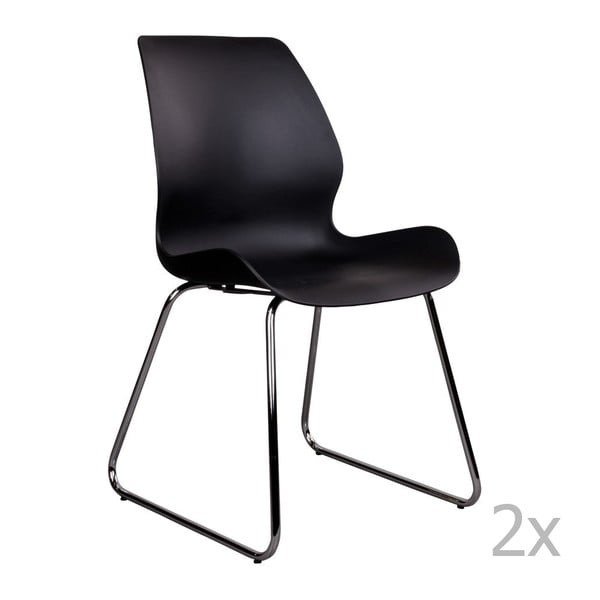 Sola fekete szék, 2 db - House Nordic