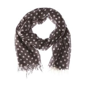 Šátek Classic Spot Grey, 180x7 cm