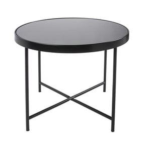 Černý konferenční stolek Leitmotiv Smooth XL, 60 x 46 cm