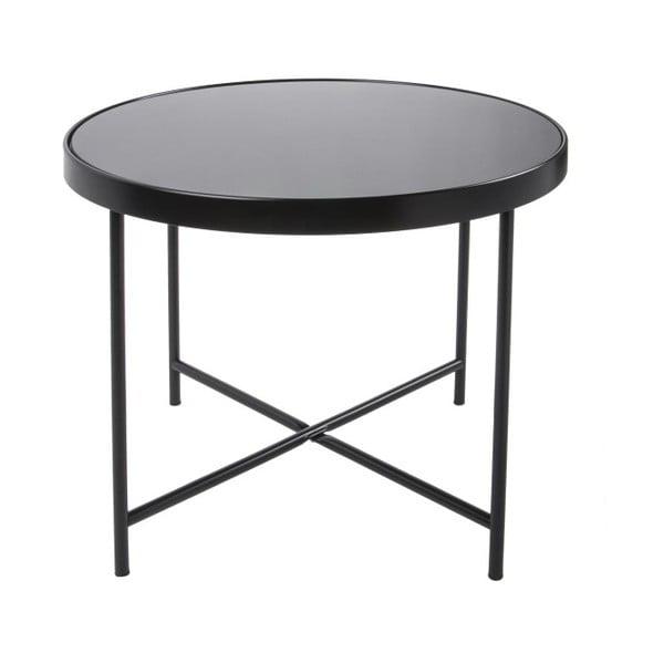 Smooth XL fekete dohányzóasztal, 60 x 46 cm - Leitmotiv