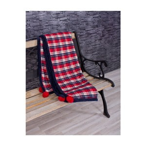 Přehoz Pompon Scotch 130x170 cm, červený