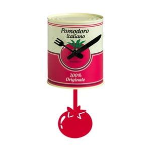 Červené kovové hodiny ve tvaru plechovky Brandani Barattolo Tomato