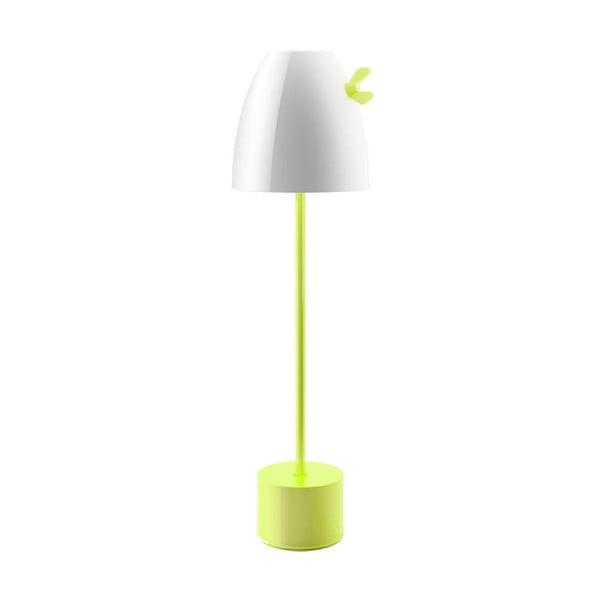 Stolní lampa Curv, zelená